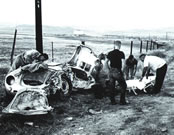 James Dean car accident.